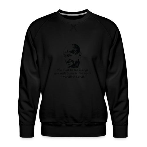 Be the Change - Men's Premium Sweatshirt