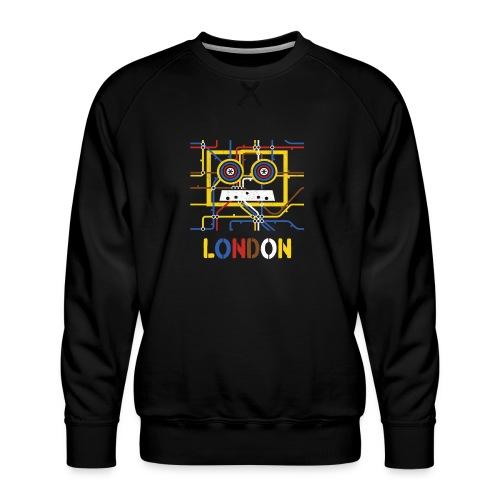 London Tube Map Underground - Männer Premium Pullover