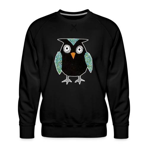 Collage mosaic owl - Men's Premium Sweatshirt