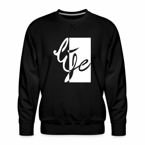 Life Logo 02 white - Sweat ras-du-cou Premium Homme