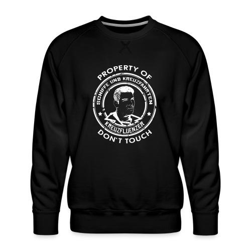 Property of your Highness RUND Black WHITE - Männer Premium Pullover