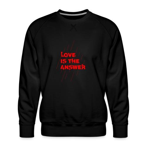 Love is the answer - Felpa premium da uomo