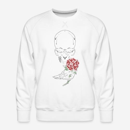 Knochen Rosen Schädel - Männer Premium Pullover