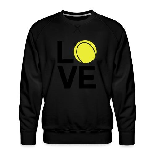 tennis_love - Sweat ras-du-cou Premium Homme