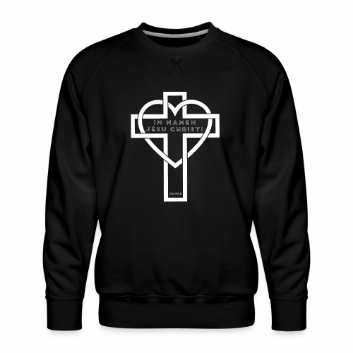 Im Namen JESU CHRISTI - weiß - Männer Premium Pullover
