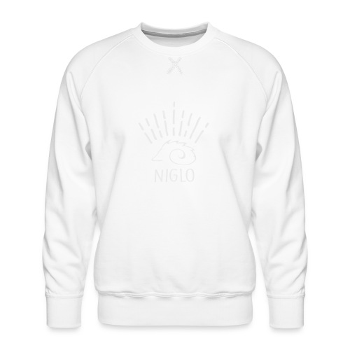niglo king gris hérisson - Sweat ras-du-cou Premium Homme
