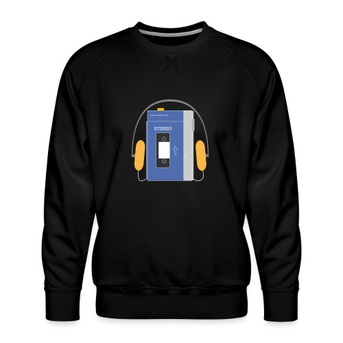 Stereo walkman in blue - Men's Premium Sweatshirt