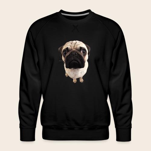 Mops Blick - Männer Premium Pullover