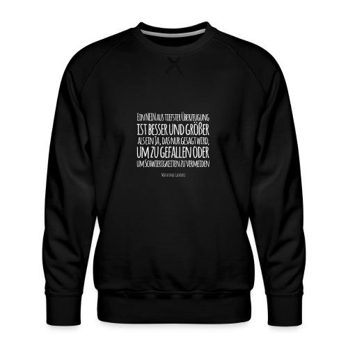 Mahatma Ghandi - Ein NEIN aus tiefster Überzeugung - Männer Premium Pullover