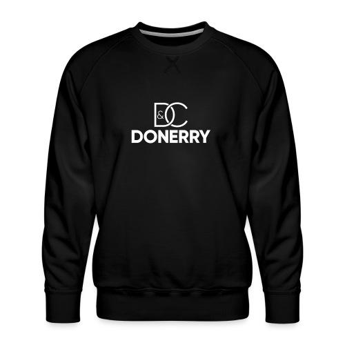 DONERRY New White Logo on Dark - Men's Premium Sweatshirt
