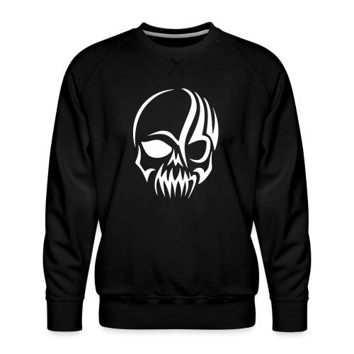 Tribal Skull white mit Logo - Männer Premium Pullover