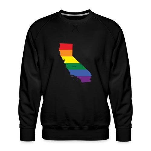 California Rainbow Flag - Men's Premium Sweatshirt