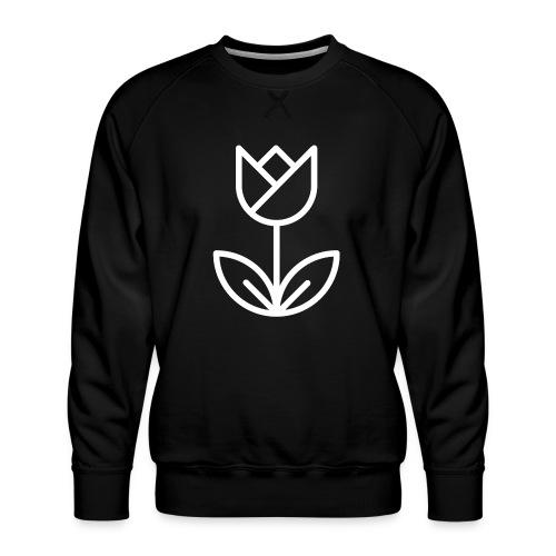 Tulip white png - Men's Premium Sweatshirt