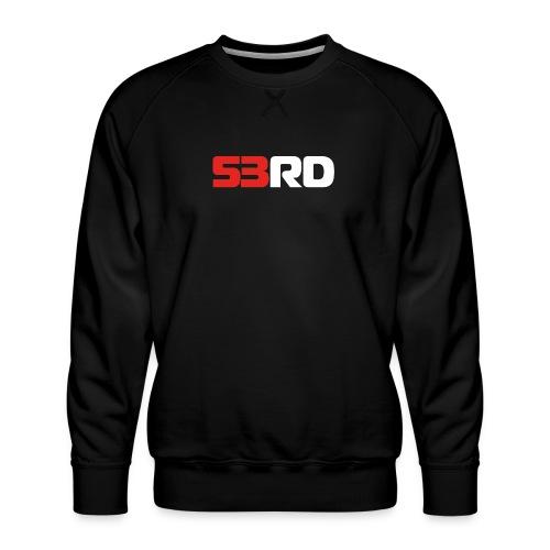 53RD Logo lang (weiss-rot) - Männer Premium Pullover