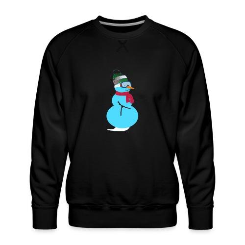 Snowboarding snowman - Miesten premium-collegepaita