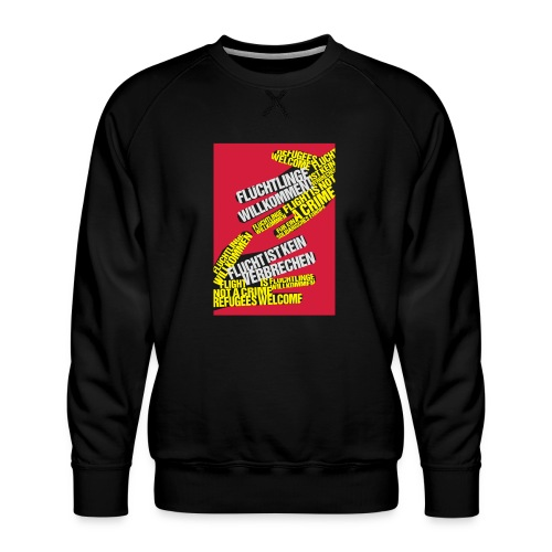 Flüchtlinge Willkommen r - Männer Premium Pullover