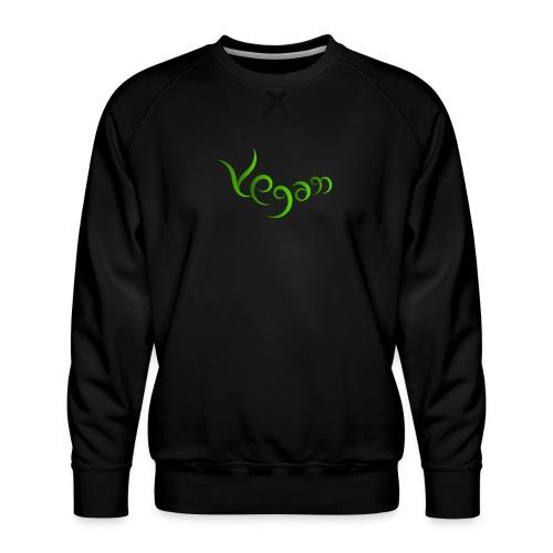 Vegaani käsinkirjoitettu design - Miesten premium-collegepaita