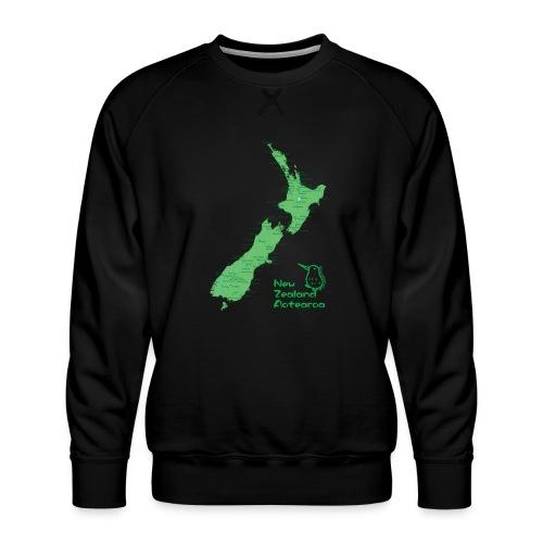 New Zealand's Map - Men's Premium Sweatshirt
