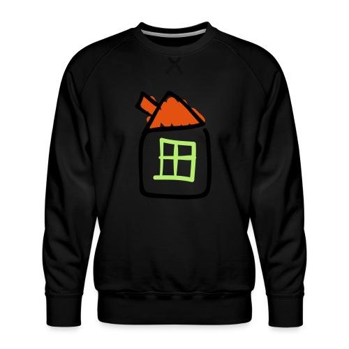 House Line Drawing Pixellamb - Männer Premium Pullover