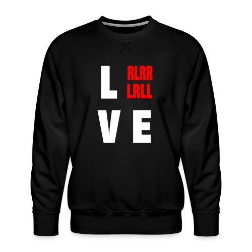 DRUMMER: LOVE Schlagzeuger - Männer Premium Pullover