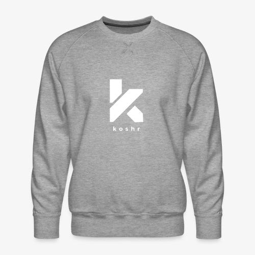 Koshr Official Logo - - Men's Premium Sweatshirt