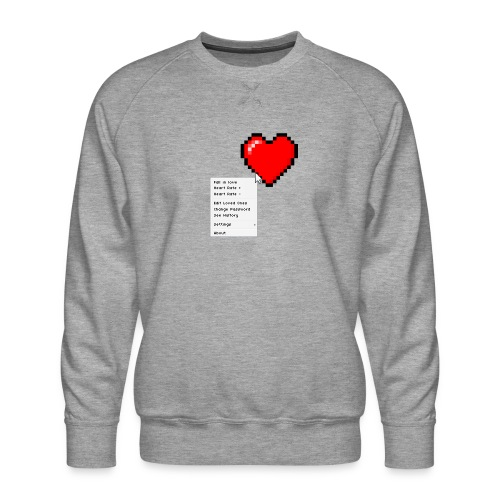 Options of the heart - Herre premium sweatshirt