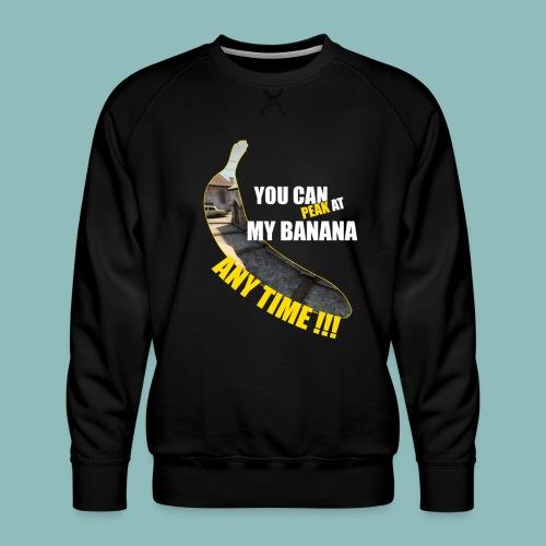 Peak my banana! - Männer Premium Pullover