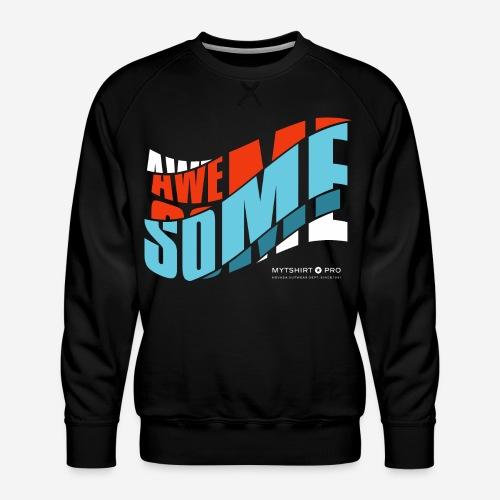 fantastische T-Shirt Design Diagonale - Männer Premium Pullover