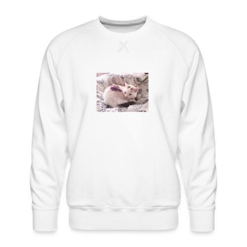 CAT SURROUNDED BY MICE AND BUTTERFLIES. - Men's Premium Sweatshirt