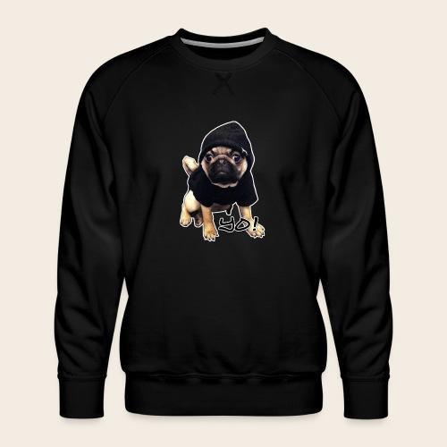yo_mops_3 - Männer Premium Pullover