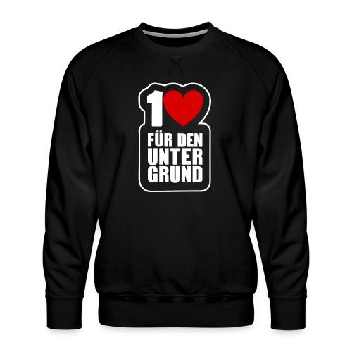 1 Herz für den Untergrund - Logo weiß - Männer Premium Pullover