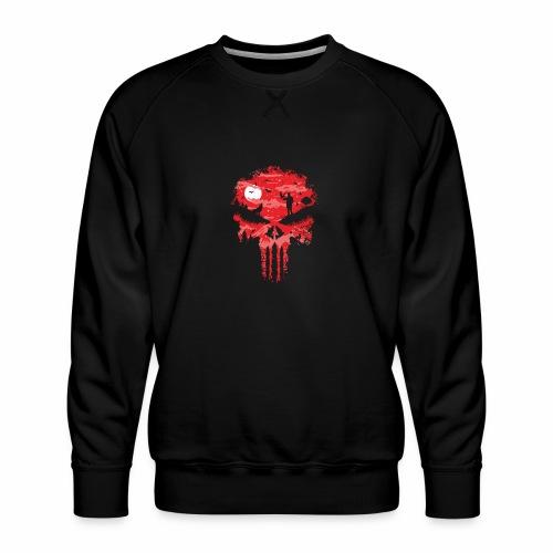 Night Skull - Miesten premium-collegepaita