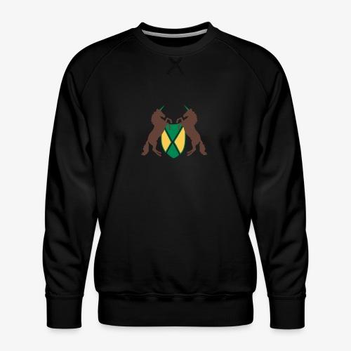 Unicorn Heraldry fantasy shield by patjila - Men's Premium Sweatshirt