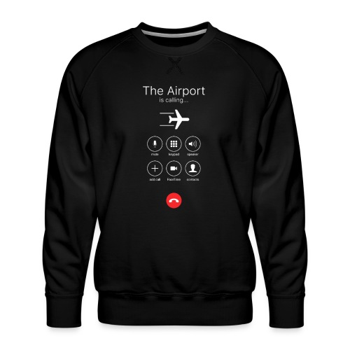 Lentokenttä soittaa - valkoinen - Miesten premium-collegepaita