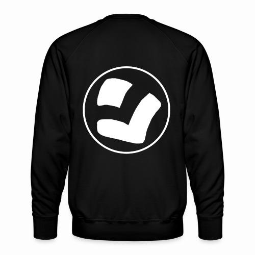 LaidPark White Logo - Miesten premium-collegepaita