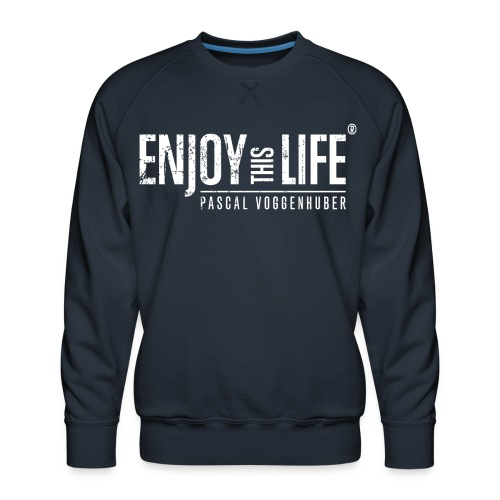 Enjoy this Life® Classic weiss Pascal Voggenhuber - Männer Premium Pullover
