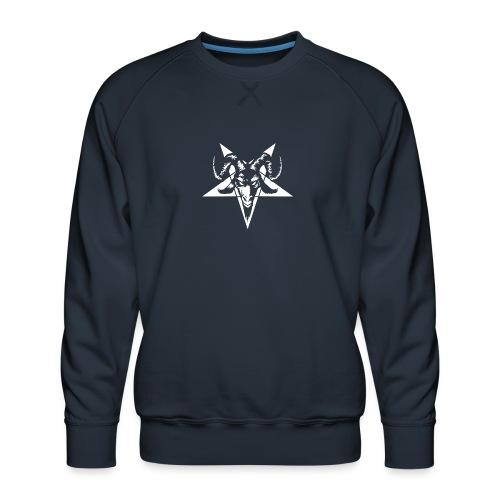 baphomet-penta - Herre premium sweatshirt
