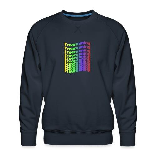 Freerunning Rainbow - Herre premium sweatshirt