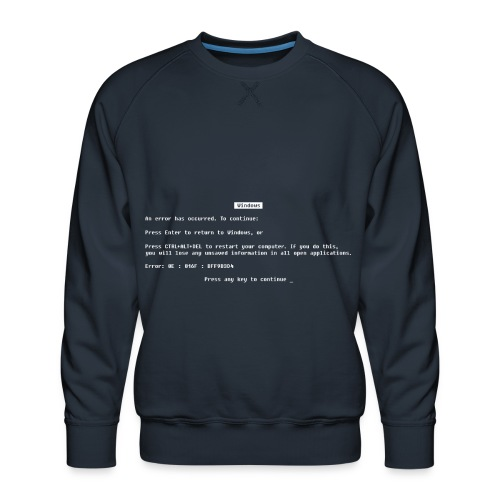 Blue screen of death - Mannen premium sweater