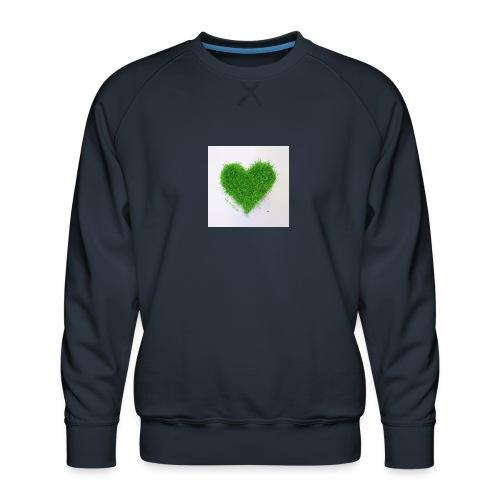 Herzrasen Button - Männer Premium Pullover