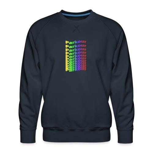 Parkour rainbow - Herre premium sweatshirt