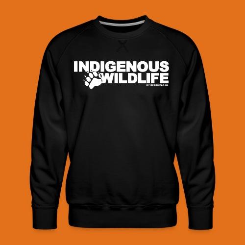 indigenous wildlife new - Men's Premium Sweatshirt