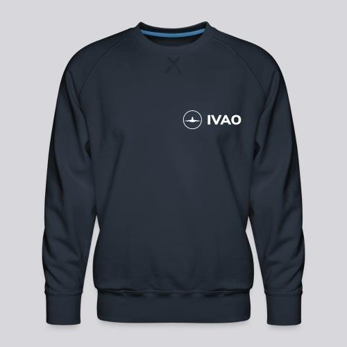 IVAO (White Full Logo) - Men's Premium Sweatshirt