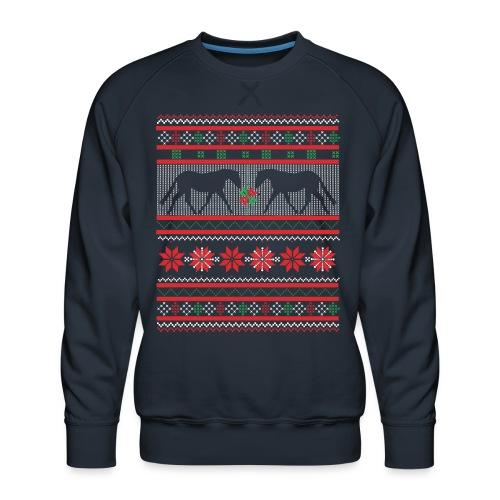 Norwegermuster Pferd - Männer Premium Pullover