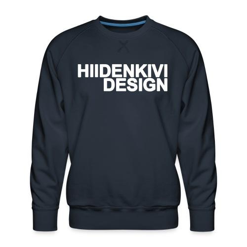 Hiidenkivi-White - Men's Premium Sweatshirt