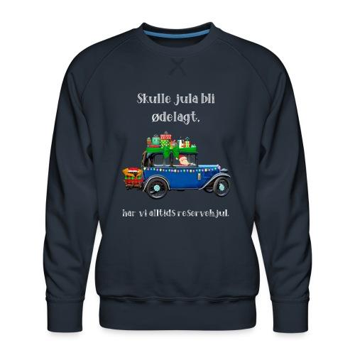 Morsomt julemotiv - Premium-genser for menn
