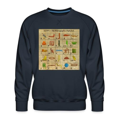 The Hieroglyphic Alphabet - Männer Premium Pullover