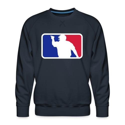 Baseball Umpire Logo - Men's Premium Sweatshirt