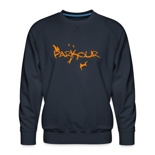 Parkour Orange - Herre premium sweatshirt
