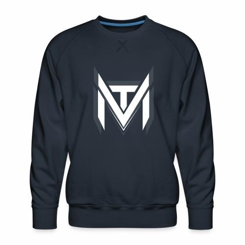 MadVexTV Logo Weiss - Männer Premium Pullover